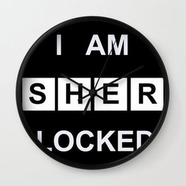 I Am Sherlocked Wall Clock
