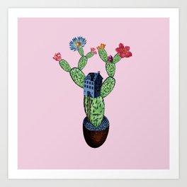 My prickly cactus safe house Art Print