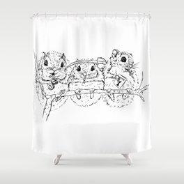Super Secret Squirrels Shower Curtain