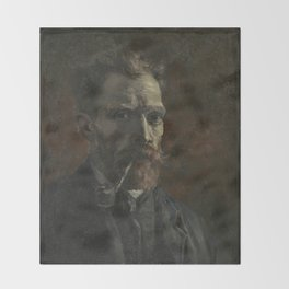 Self-Portrait with Pipe Throw Blanket