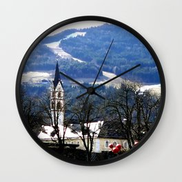 From the Pearl of the Dolomites Wall Clock