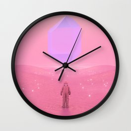 Lost Astronaut Series #03 - Floating Crystal Wall Clock