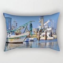 Galveston Fishing Boats Rectangular Pillow