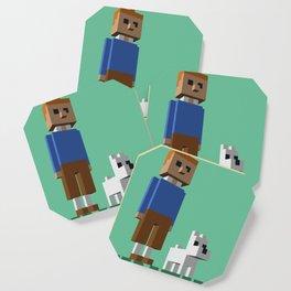 Tintin voxel tribute Coaster