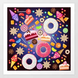 Pandora cookie box Art Print