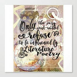 literature and poetry - infernal devices Canvas Print