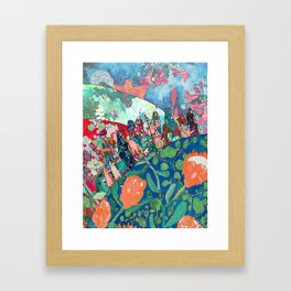 Floral Migrant Quilt Framed Art Print
