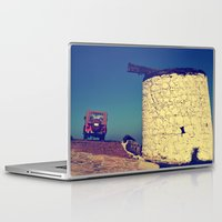 jeep Laptop & iPad Skins featuring windmill and the jeep in yalıkavak by gzm_guvenc