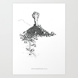 Rock Cross Art Print