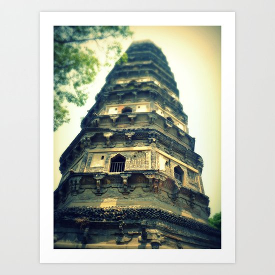 Tiger Hill Pagoda Art Print