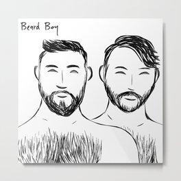 Beard Boys 3 Metal Print