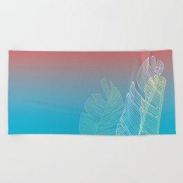 Summer Ombre Banana Leaf Trio Beach Towel