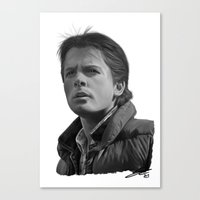 marty mcfly Canvas Prints featuring Marty McFly by Silverback Design