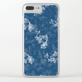 Smoked Fish, Blue Clear iPhone Case