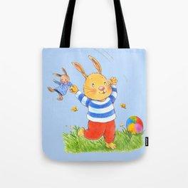La joie d'un lapin heureux... Tote Bag