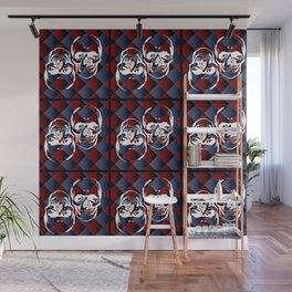 Skull chessboard pattern Wall Mural