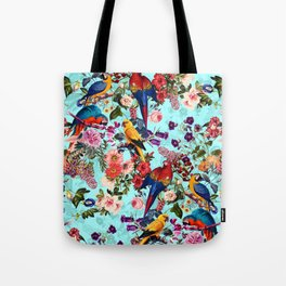 Floral and Birds XI Tote Bag