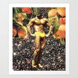 Canned Peaches Art Print