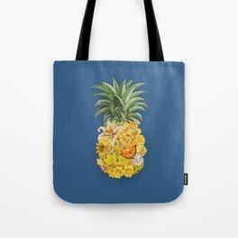 Pineapple Blue Tote Bag