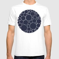 Floating Dots MEDIUM Mens Fitted Tee White