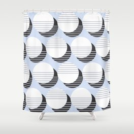 Simple Circle Pattern Shower Curtain
