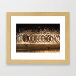 Wool spinning at the beach Framed Art Print