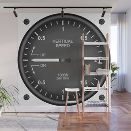 Vertical Speed Flight Instruments Wall Mural