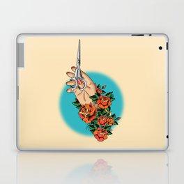 Tattoo-Hand, Scissors, Flowers Laptop & iPad Skin