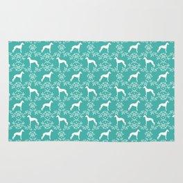 Italian Greyhound floral silhouette dog breed gifts minimal dog pattern art Rug