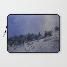 winter first comes in the mountain  Laptop Sleeve