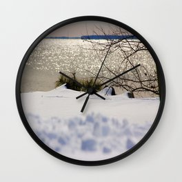 Snow in a cold afternoon-Winter Series Wall Clock