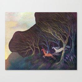 Adventures in the Dark Woods Canvas Print