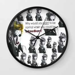 Why Would You Want to be Normal? Wall Clock