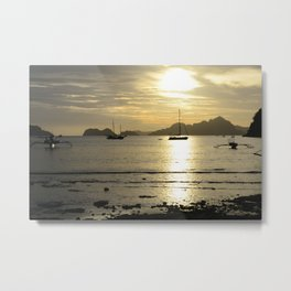 Golden Seas Metal Print