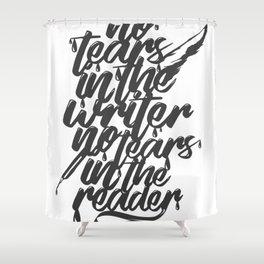 Typo Tears Shower Curtain