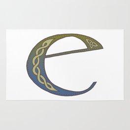Celtic Knotwork Alphabet - Letter E Rug