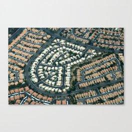 ARCH ABSTRACT 18: Urban sprawl #2, Las Vegas Canvas Print