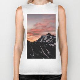 Pink Sky - Cascade Mountains - Nature Photography Biker Tank