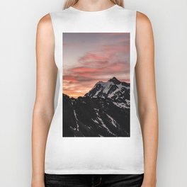 Pink Sky - Cascade Mountains - Nature Photography Biker Tank