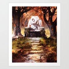 The Autumn Throne Art Print