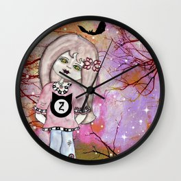 Zombie Girl  Wall Clock