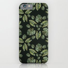 Watercolor Tropical Rosettes iPhone Case