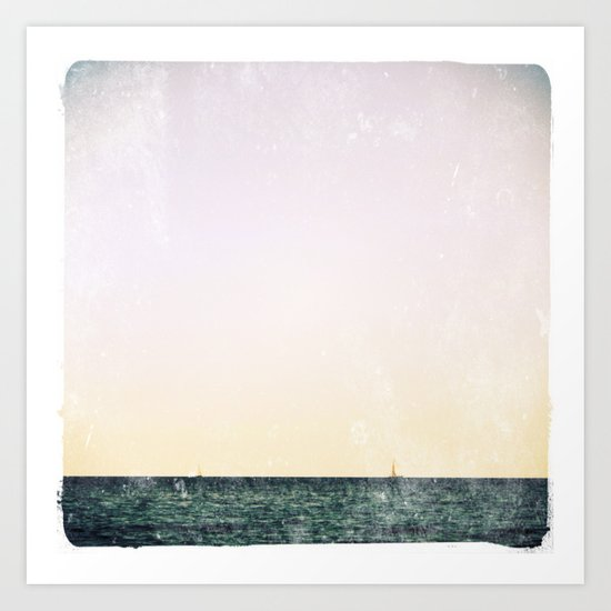summer sail (pastel) Art Print