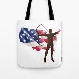 Flag America Hunting Hunter Gifts Tote Bag