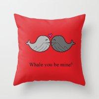 valentine Throw Pillows featuring Valentine by Rachel Goodson Quinn