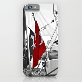 Flag of Turkey - Selective Coloring iPhone Case