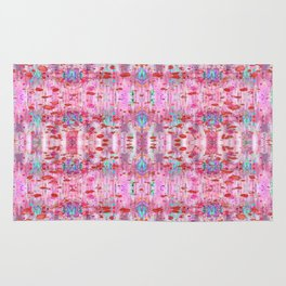 Red Hot Ikat Rug