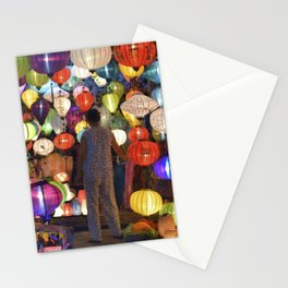 Colored lanterns Stationery Cards