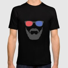 3D beard X-LARGE Black Mens Fitted Tee