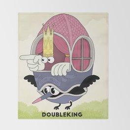 DOUBLE KING: Ovum Regia Throw Blanket